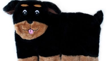 ZippyPaws_Squeakie_Pup_11-Squeaker_No_Stuffing_Plush_Dog_Toy_Rottweiler